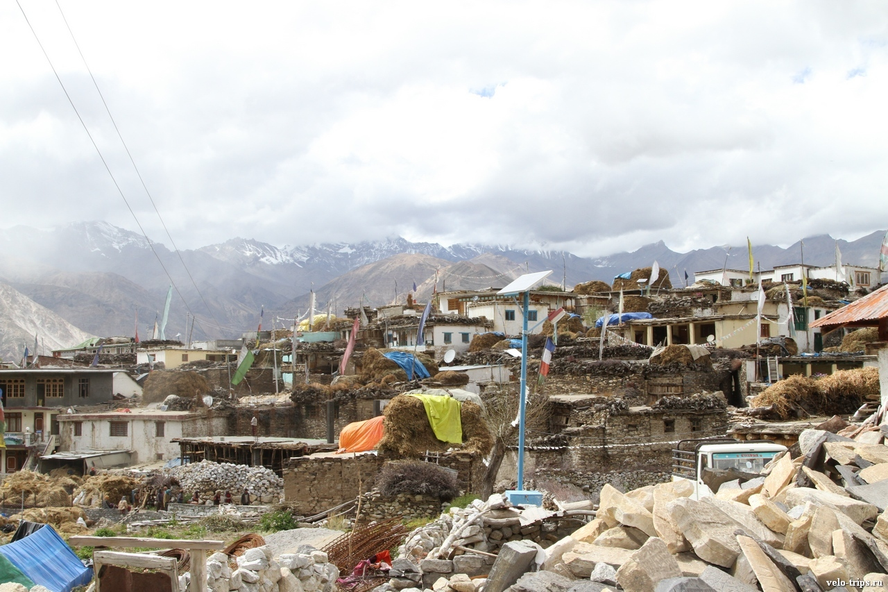 Nako town in Himalaya, India