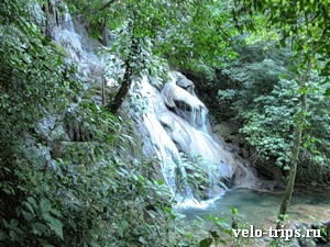 Mexico, Palenque. Waterfall.