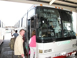 Mexico, Oriente 2nd class bus to Celestun