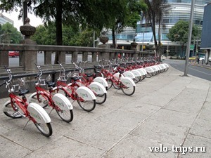 Mexico, Bicycle parking on the streets