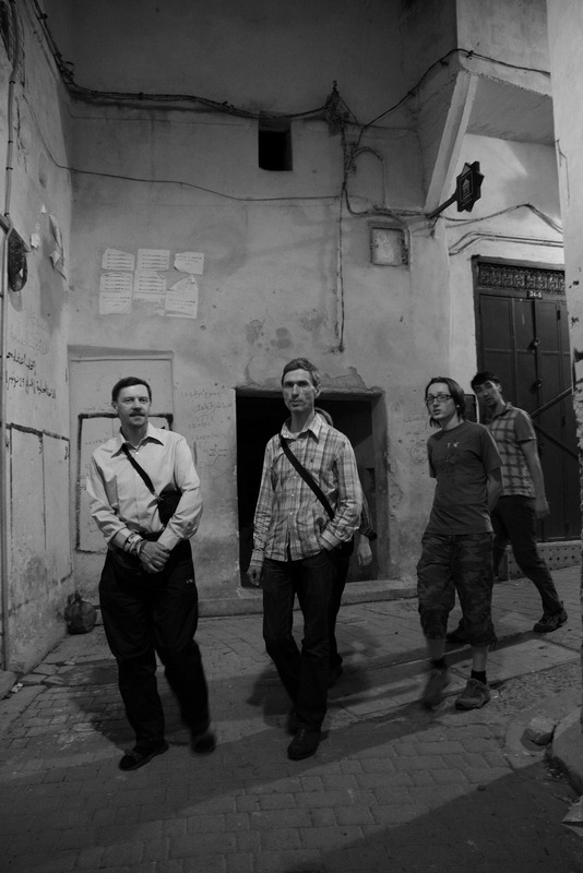 Morocco, Fez. Night walking on the narrow streets.