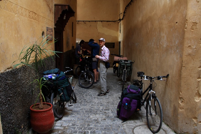Morocco, Fes. Starting bicycle trip from Dar El Yasmine hotel