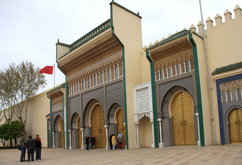Morocco, Fes. King's palace gates