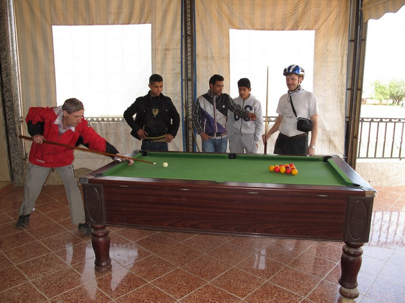 Morocco. Cafe with billiard table.