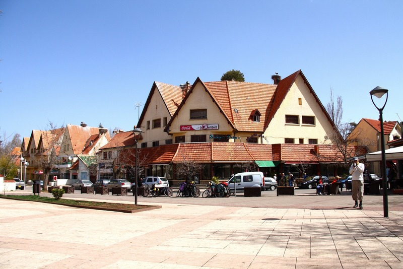 Morocco, Ifrane. Stork nests on the roofs