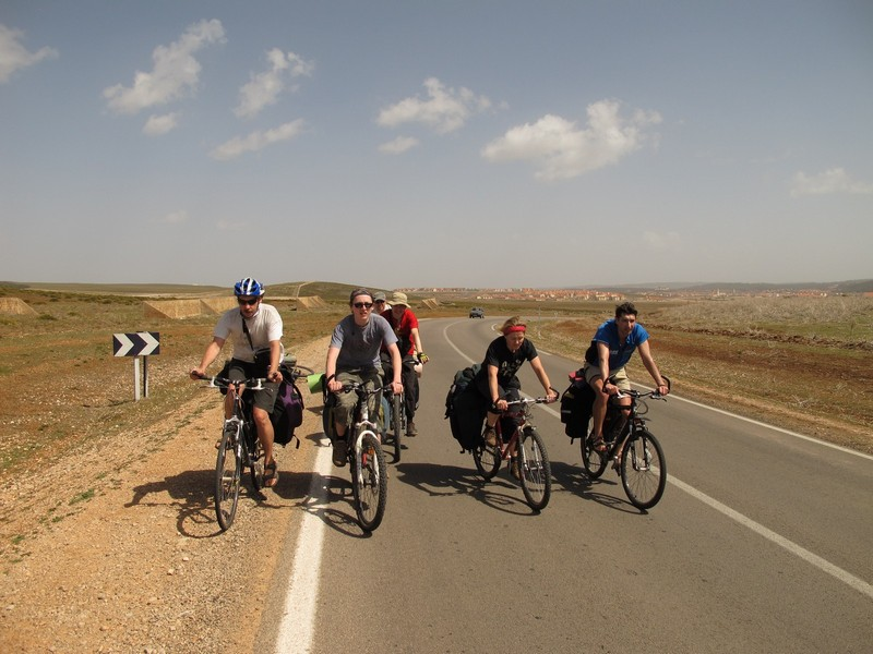 Morocco. Road from Ifrane to Azrou by bicycle