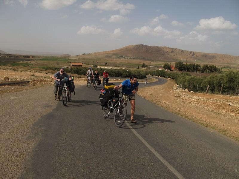 Morocco. Road up Azrou - Ain Leuh by bicycle