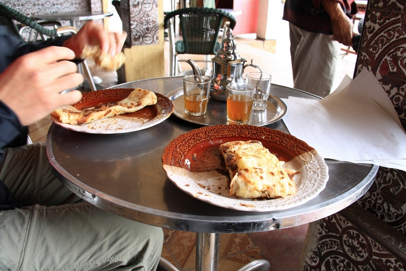Morocco. Rectangle pancakes in Zaida