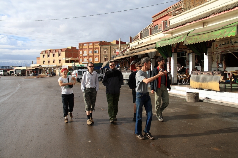Morocco. Morning walking in town Zaida
