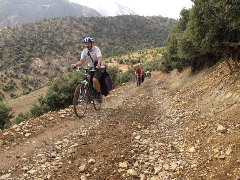 Morocco, Cirque du Jaffar. Road up by bicycle.