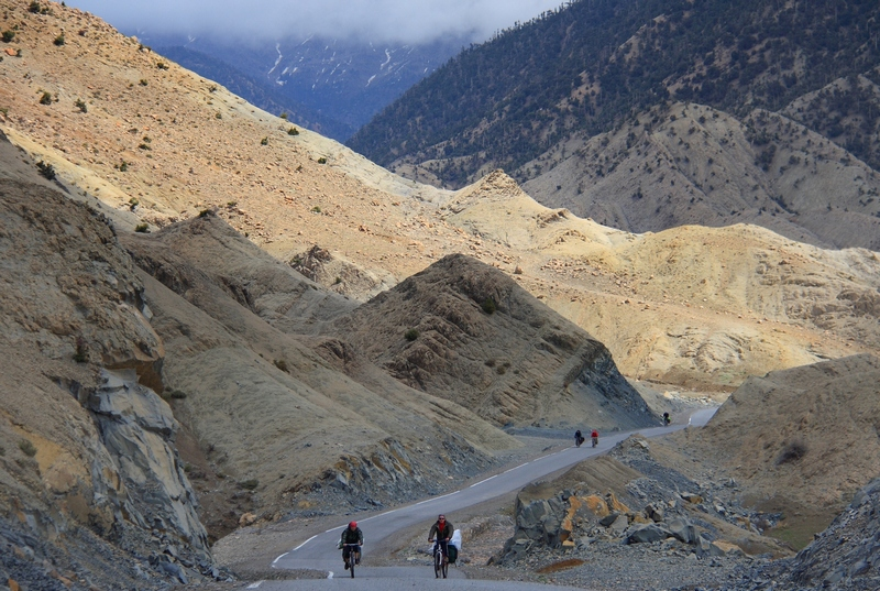 Morocco, High Atlas. Mountains and bicycles.