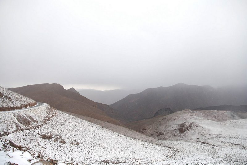 Morocco, High Atlas. Mountains with and without snow.