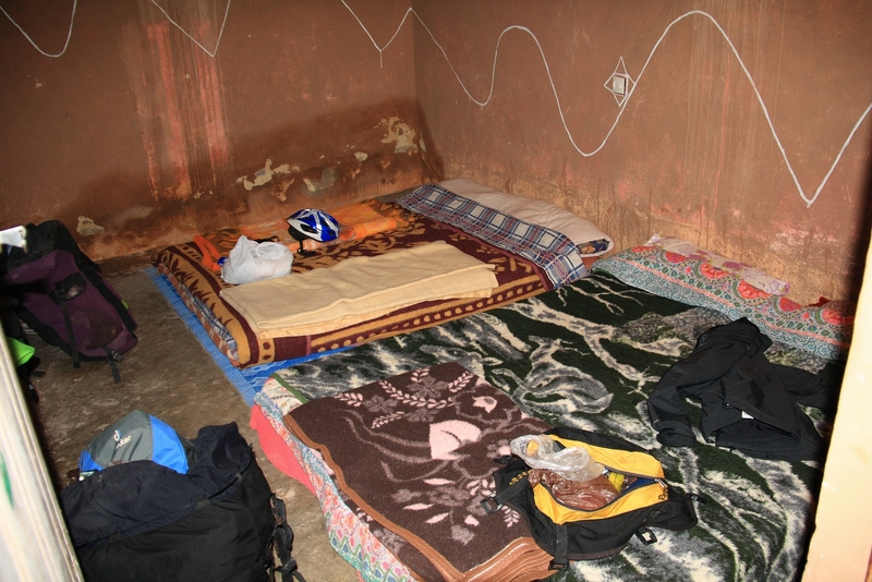 Morocco, High Atlas. Auberge room in Tamtetoucht
