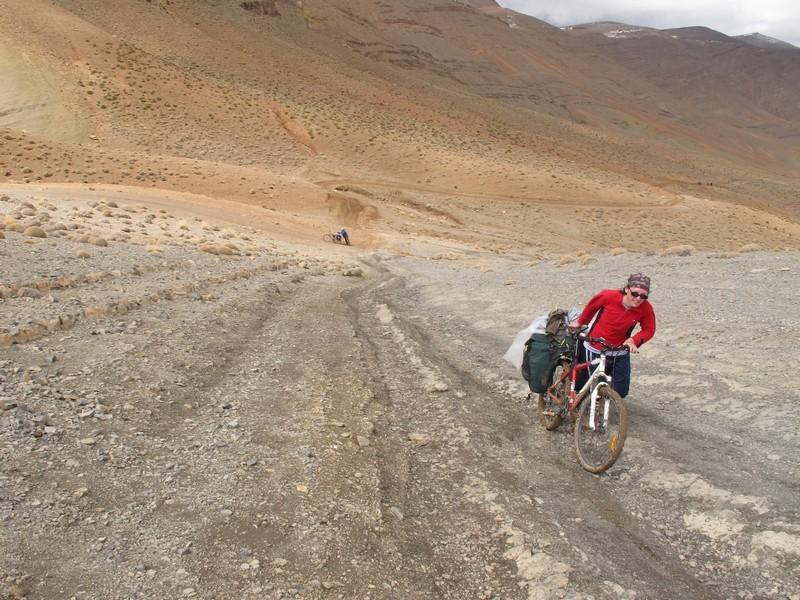 Morocco, Tamtetoucht-Msemrir. Climbing to the pass