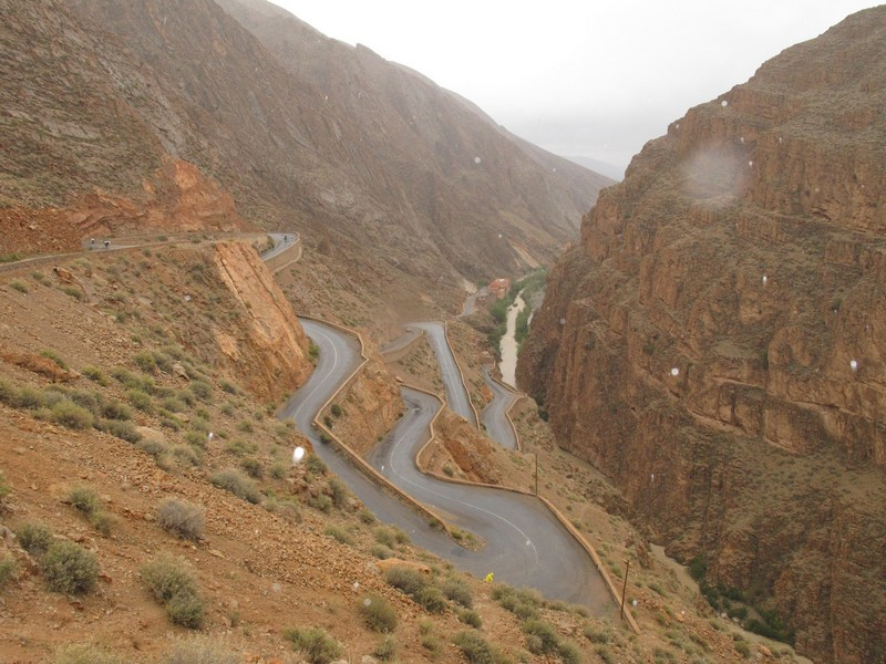Morocco, Dades gorge. View from cafe's window