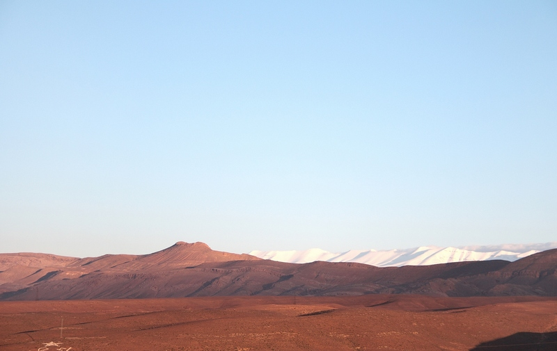 Morocco, Boumalne Dades. Morning view on the mountains