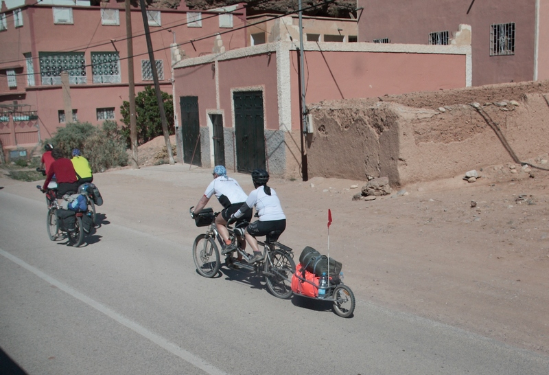 Morocco, bicycle tandem.