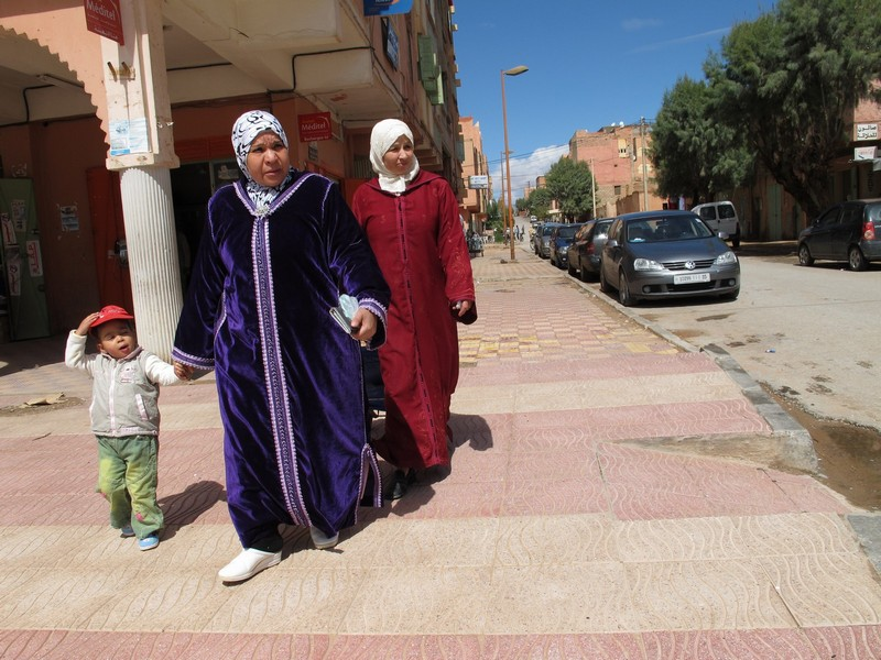 Morocco, women with child.