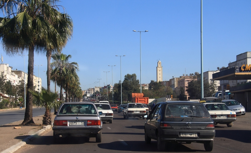 Morocco, Casablanca. Road traffic
