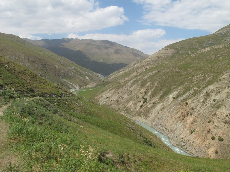 Tajikistan, Yagnob. Mountain river view