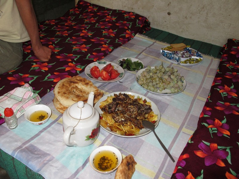 Tajikistan. Dastarhan in village house